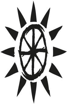 Logo que representa a la Estación Eridu, creada por Terrestres y Uu'man, por lo que es una mezcla de los logos de ambos.